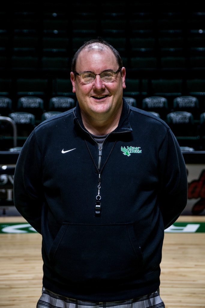North Texas women's basketball assistant head coach Bobby Brassel stands at midcourt on November 12, 2015. Dylan Nadwodny | Staff Photographer
