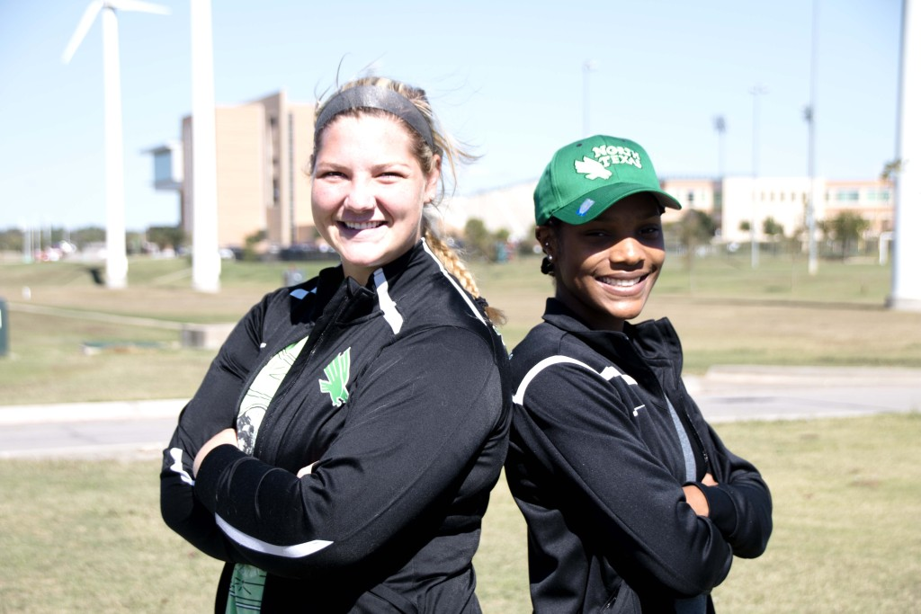 Redshirt senior soccer goalkeeper Jackie Kerestine and senior volleyball outside hitter Carnae Dillard are two of the top athletes in their respective sports. Dylan Nadwodny | Staff Photographer