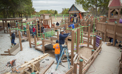 UNT Greek organizations aid in construction of Eureka 2 Project