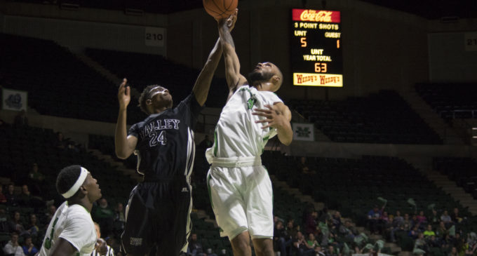 Junior guard Johnson's career shooting day propels men's basketball to win