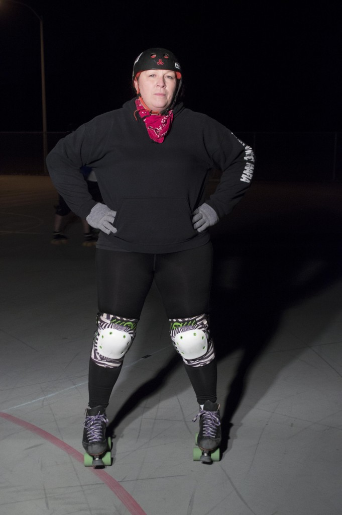 Captain Stacey Bzdok of the Main Street Mafia is also a blocker for North Texas Roller Derby's traveling team the Fighting Unicorns. Haley Yates| Staff Photographer