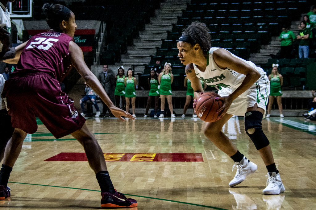 North Texas trailed by as much as 20 points during Saturday's game against IUPUI before making a comeback in the second half. Matthew Brown | Senior Staff Photographer