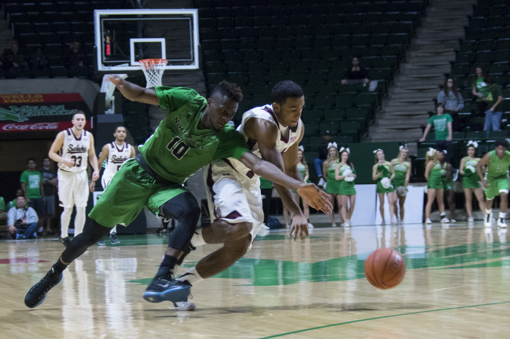 North Texas couldn't keep up on Saturday when Southern Illinois outpaced and outscored the Eagles 95-63. Matthew Brown | Senior Staff Photographer