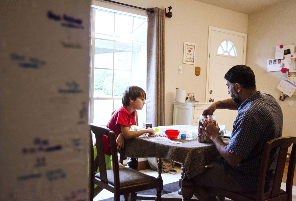 Dax and his father Anooj Thakker spend as much time as they can playing when Dax is out of the hospital or not in recovery. Hannah Ridings | Senior Staff Photographer