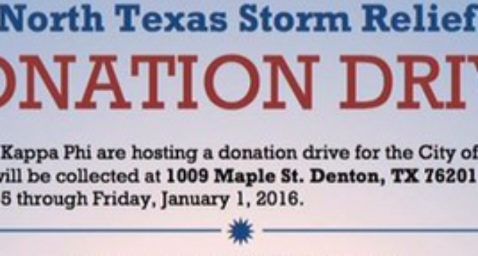 Fraternity hosts donation drive for Garland tornado relief