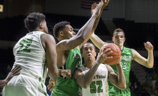Men's basketball routed by Marshall at home