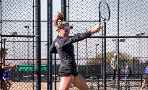 Tennis breaks road losing streak in Houston