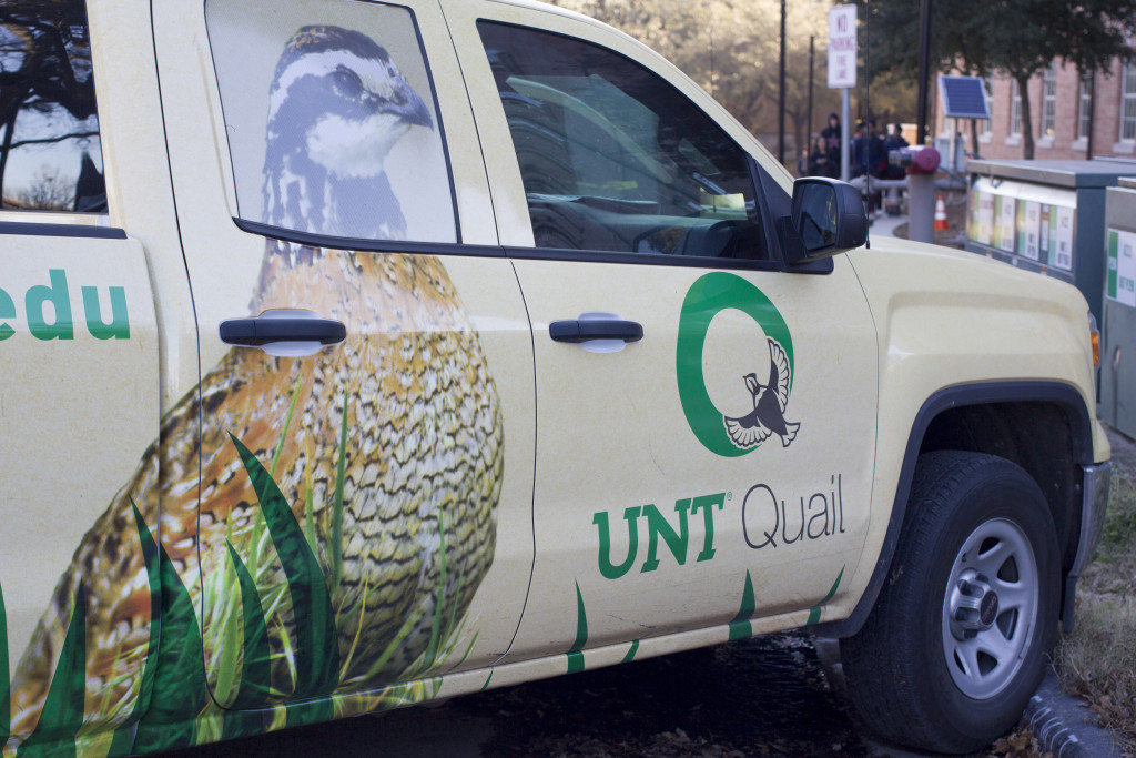 The UNT Quail group is proud to show off their decked out vehicles outside the Life Science Complex. Paulina De Alva | Staff Photographer