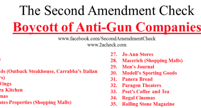 Hey, don't boycott a business for banning open carry