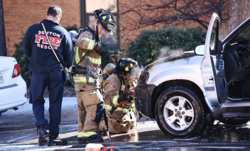 Car catches fire outside Crumley Hall