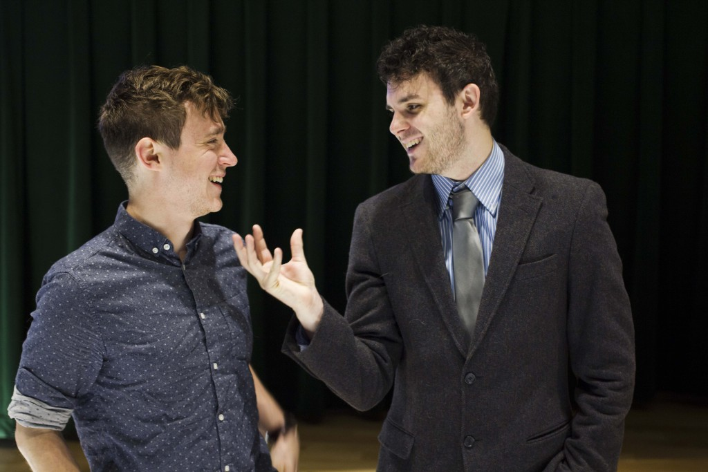English language arts senior Stu Hollowell and UNT Alumn Shane Silagi founded a nonprofit called Language of Laughter, a program dedicated to promoting literacy and helping kids across Denton. Paulina De Alva | Staff Photographer