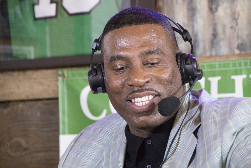 North Texas men's basketball head coach Tony Benford talks about his All-Conference USA team with Dave Barnett on the Coach's Show. Dylan Nadwodny | Staff Photographer