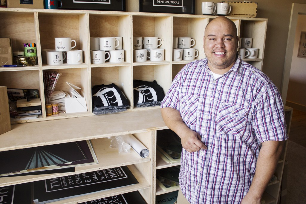 Texas Women's University alumn Eddie Renz is the owner and founder of online shop Denton Swag as well as a DJ and a former youth pastor at Denton Bible Church. Paulina De Alva | Staff Photographer