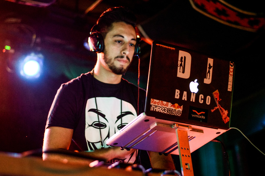 DJ Banco made his appearance at Dan's Silverleaf during Thin Line Festival on Sun. February 21. Haley Yates | Staff Photographer