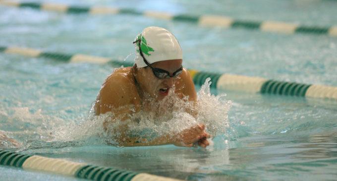 Swimming and Diving comeback falls short in last dual meet of season