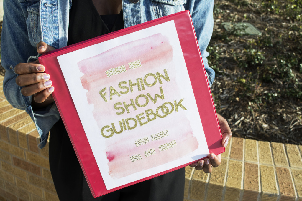 Wilson's fashion show guidebook holds all of the information she needs in order to set the fashion show up. The pages contain everything from stage layouts to the fashion used in the show. Kayleigh Bywater | Senior Staff Writer