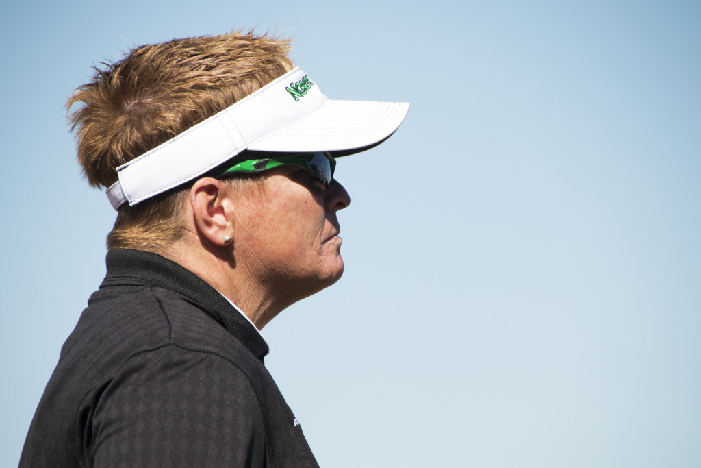 North Texas softball head coach Tracy Kee is one of the winningest coaches in the NCAA with over 700 wins. Dylan Nadwodny | Staff Photographer