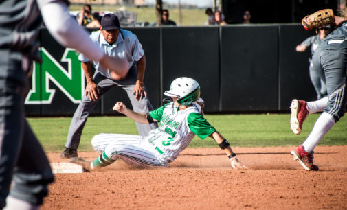 Late run helps softball find win column at Stephen F. Austin