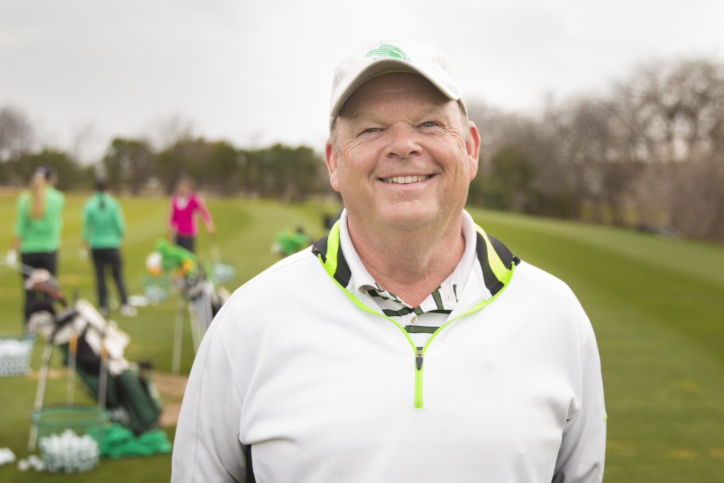North Texas interm golf coach Barry Niemann took over the head coaching position last fall. Colin Mitchell | Senior Staff Photographer