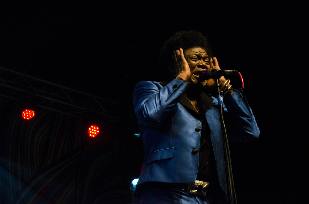 American soul and R&B singer Charles Bradley performs on 35 Denton Music Festival's main stage on March 12, 2016. Hannah Ridings | Senior Staff Photographer