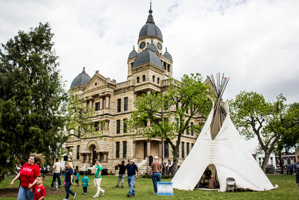 Denton County held a 170th Anniversary celebration at the Courthouse lawn with activities for the entire family, an anniversary cake and a historical marker unveiling. Paulina De Alva | Staff Photographer