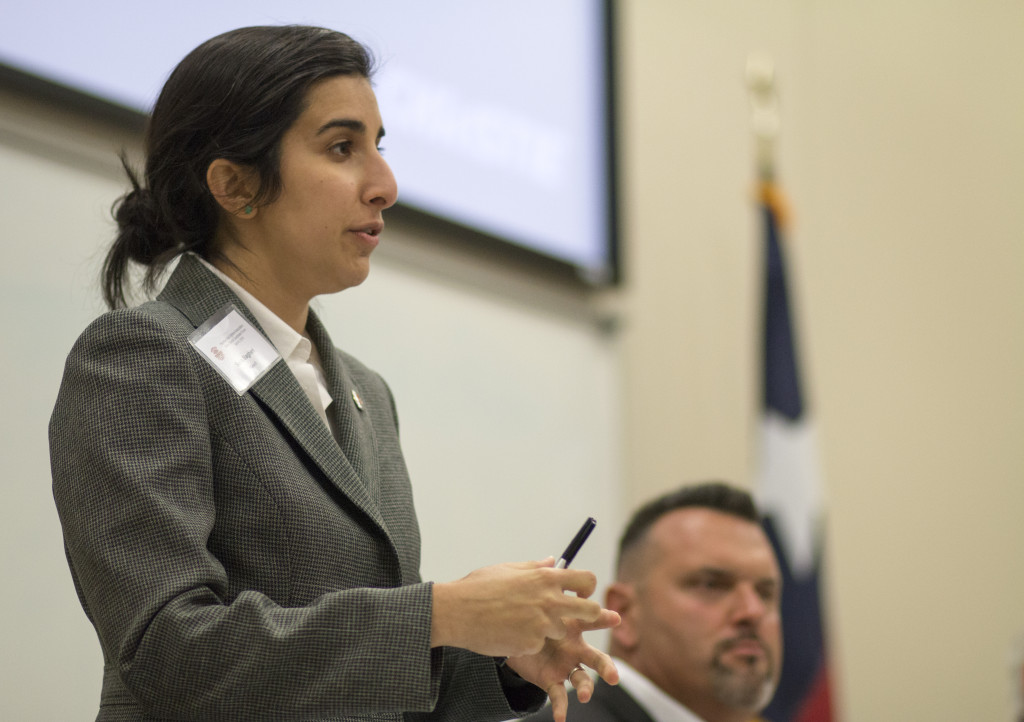 Sara Bagheri is running for Greg Johnson's place 6 on the Denton City Council | Colin Mitchell | Senior Staff Photographer