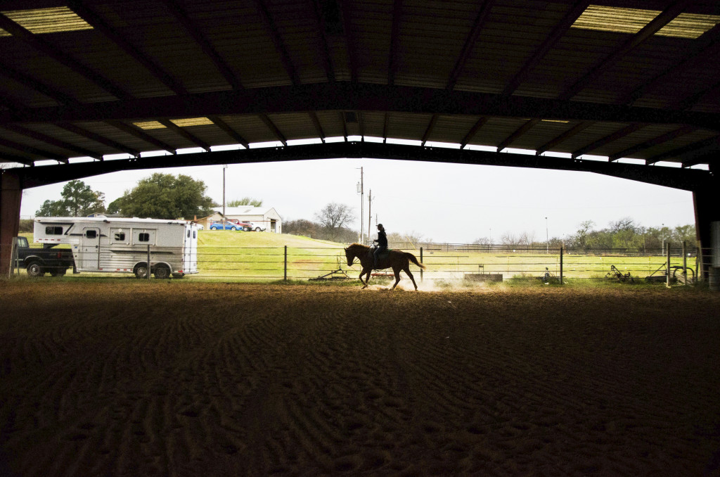 The equestrian team practices every Monday, rain or shine in Argyle, Texas. Hannah Ridings | Senior Staff Photographer