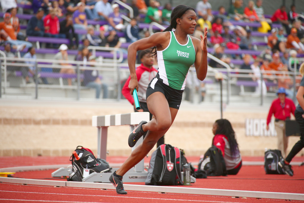 Graduate student sprinter Chastity Stewart qualified for the NCAA tournament in track and field. Courtesy | North Texas Athletics