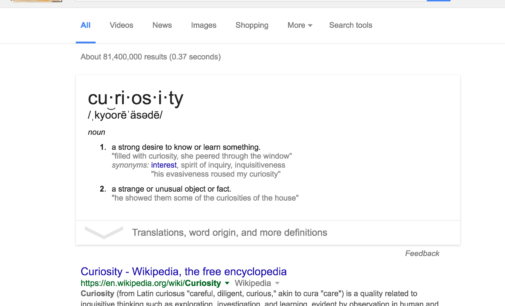 I love Google, but our curiosity is at stake