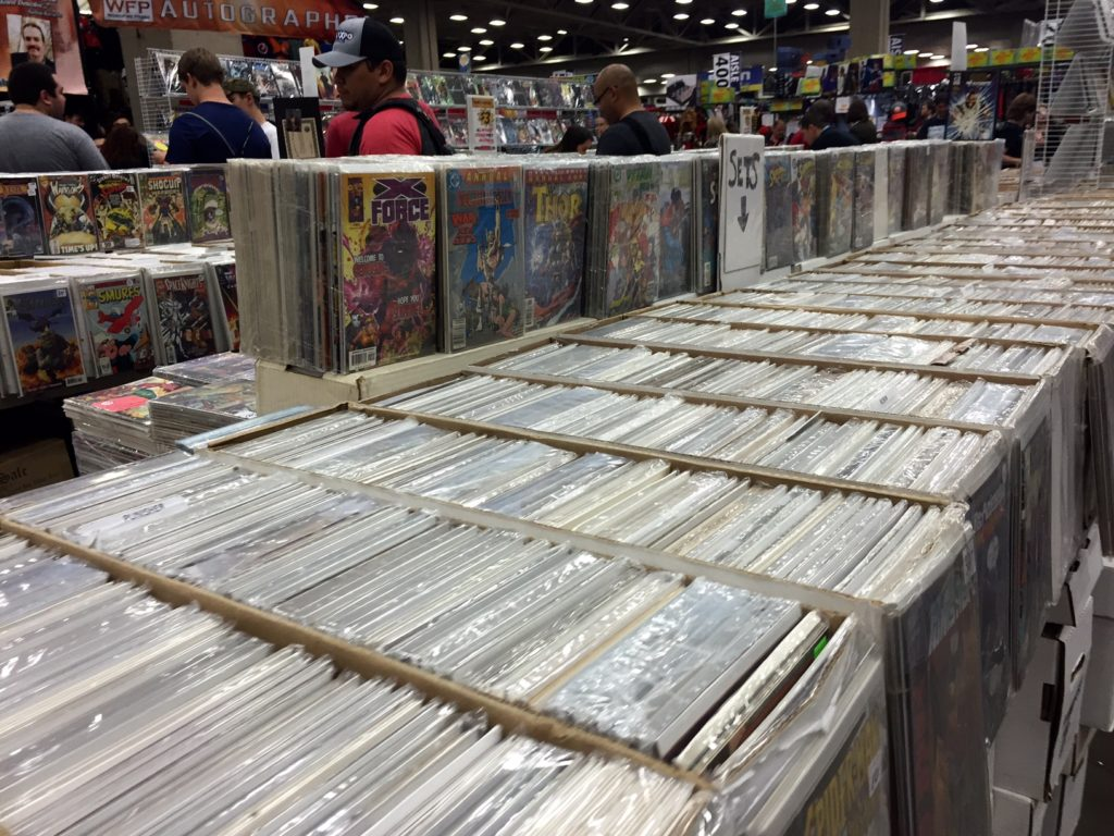 Vendors from all over the metroplex brought their collections in for prospective buyers. Many booths had rare comics mixed in between the shelves. Kayleigh Bywater | Senior Staff Writer