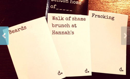 Someone made a Denton expansion pack for Cards Against Humanity