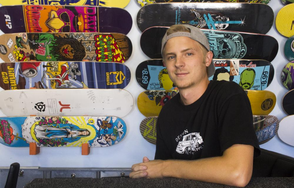 Sam O'Donnell and the co-owners of Denton Skate Supply have worked together to create a new skate park. O'Donnell is spokesperson to bridge the gap between the needs of the skatepark and the City of Denton Parks and Recreation Department. Tomas Gonzalez