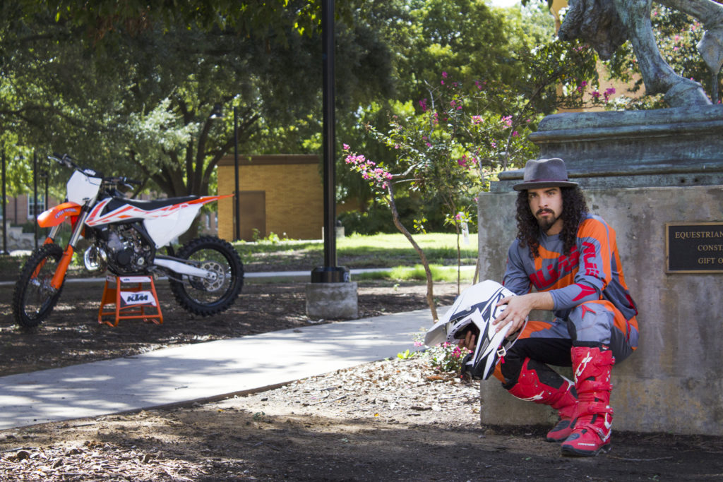 Blake Wharton, pre-media arts freshman and retired professional motocross athlete, has found his new home at the University of North Texas after a long career. Wharton was born in Pilot Point and started his career at 8-years-old. Jennyfer Rodriguez