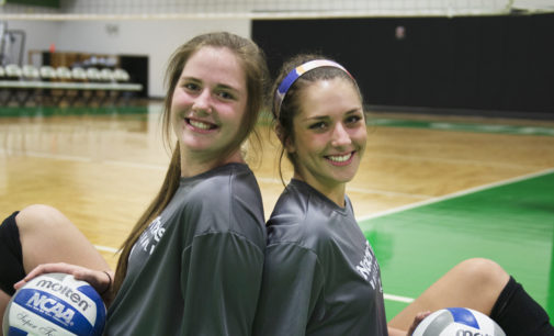 High school teammates BrynCaitlin Walker and Karley York reunited at North Texas