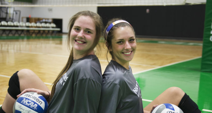 High school teammates BrynCaitlin Walker and Karley York reunited at North Texas