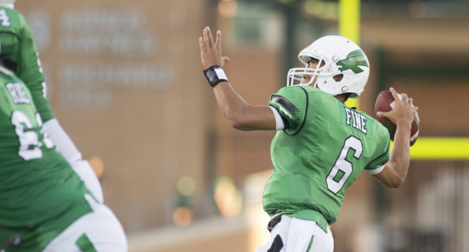 Freshman Mason Fine named Mean Green starting quarterback