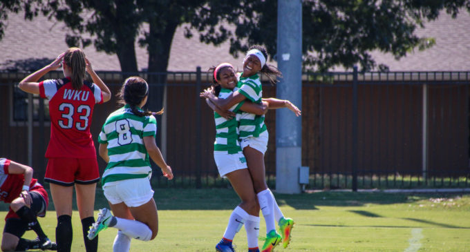 Mean Green soccer dominating opponents at home