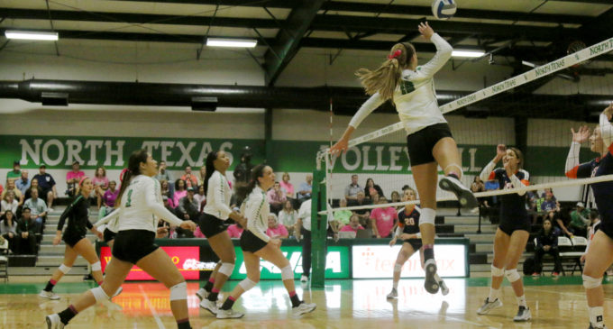 North Texas volleyball loses in five sets to Marshall on senior night