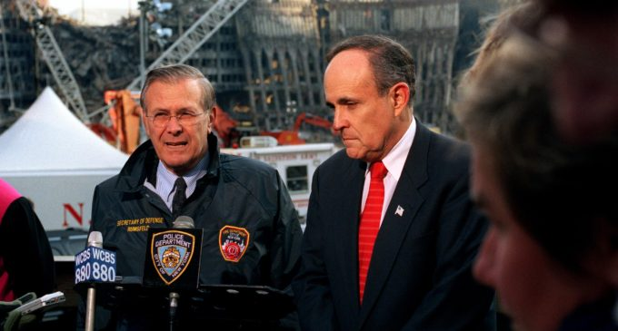 Rudy Giuliani speaks about public safety during Dallas luncheon