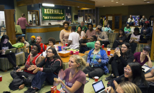 Students tune in to campus watch parties