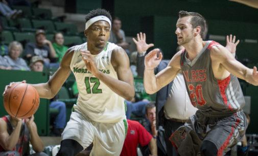 Men's basketball snaps three-game losing streak, overcomes slow start in win over Niagra