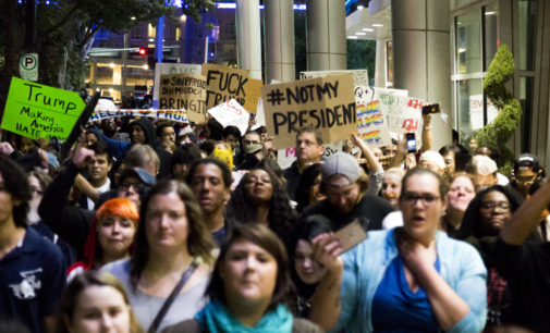 Dallas protesters rally against new president-elect