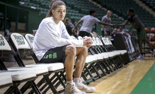 Home sweet home: high-flying Ryan Woolridge settling in with the Mean Green