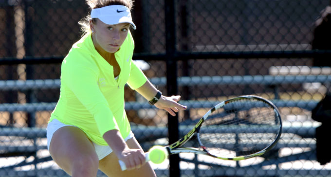 North Texas tennis splits weekend tilt with Oklahoma and Wisconsin