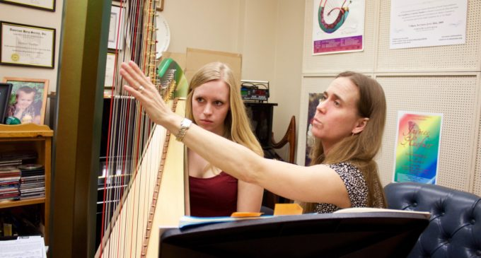 Harp professor balances music and martial arts
