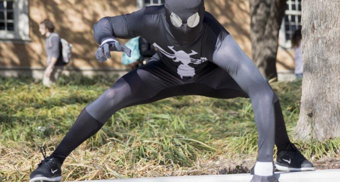 Spider-Man wears black Nikes