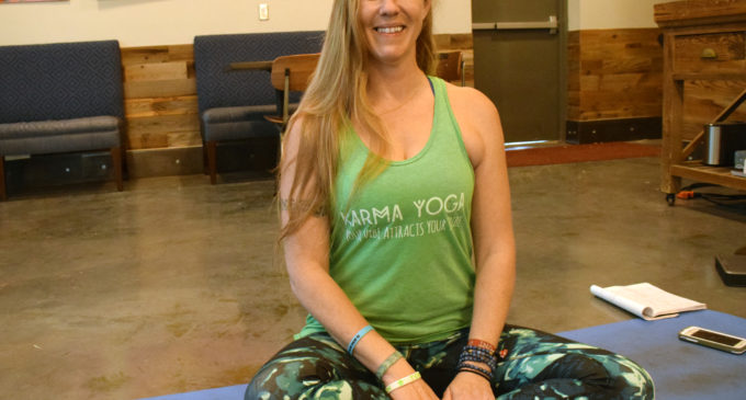 Karma Yoga instructor Jessica McReynolds finds solace in struggles