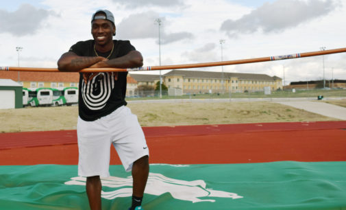From hoops to hops, C.J. Gilmore determined to break records for North Texas track