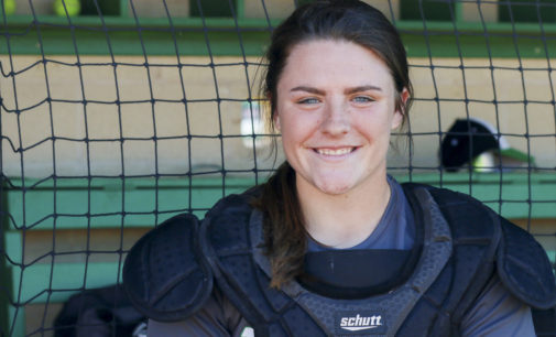 Behind the plate with freshman catcher Nicole Ochotnicki