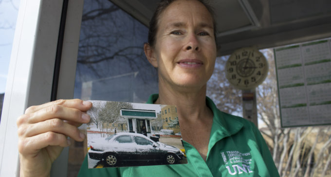 UNT parking booth operator spreads cheer to students and faculty